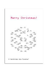 Weihnachtskarte Punkt für Punkt Postkarte Weihnachten  - Copy