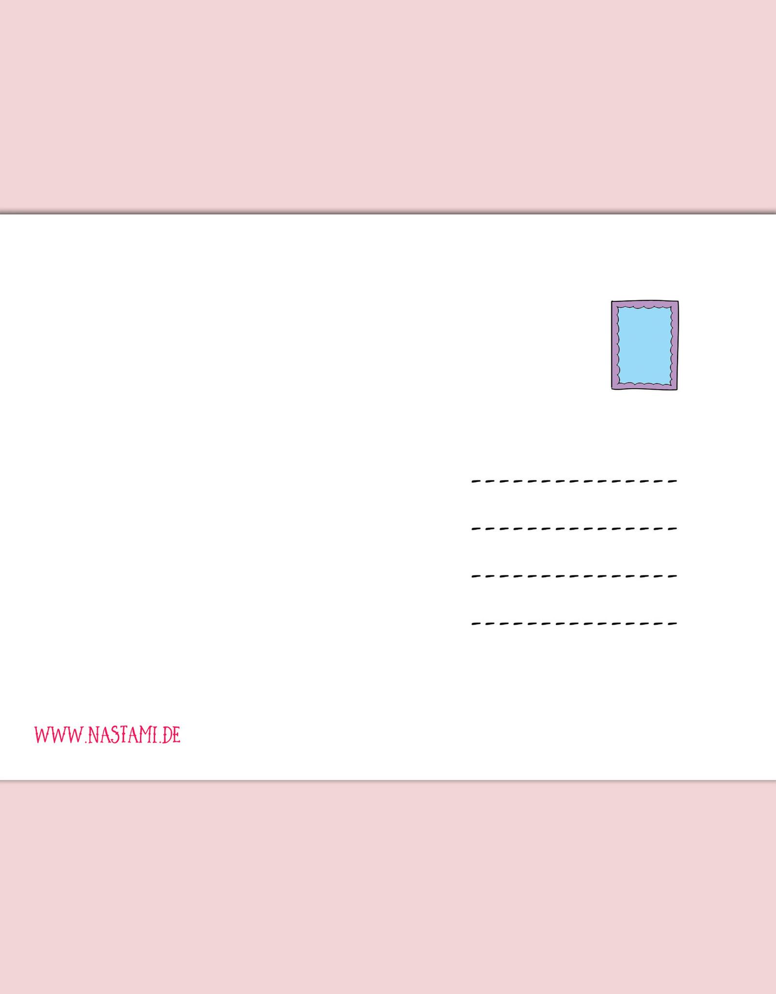 Postkarte Es tut mir leid Entschuldigungskarte Es tut mir leid Karte