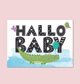 "Postkarte Baby ""Hallo Baby Jungen"""