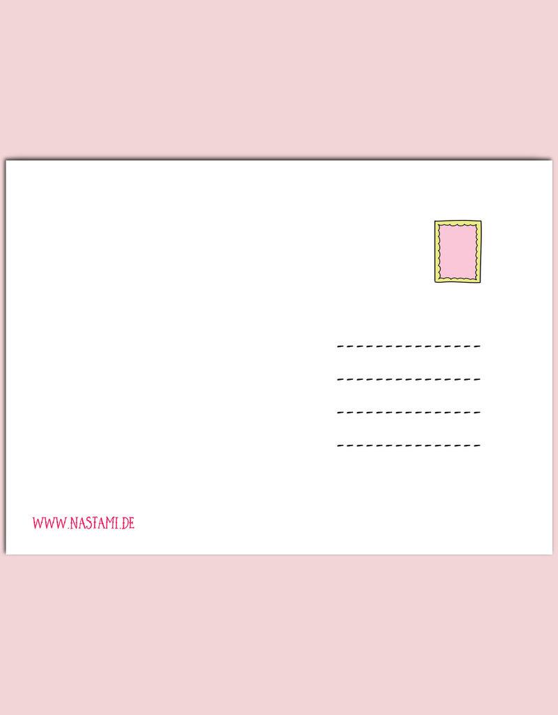 """Postkarte Baby """"Hallo Baby Mädchen"""", Baby Geschenk, Geschenk zur Geburt, Geschenk Geburt, Karte Geburt, Pullerparty, Postkarten Geburt"""