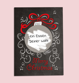 25 x Weihnachtskarten zum Rubbeln inkl. Rubbelsticker