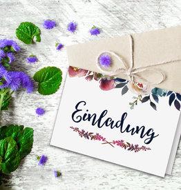 Einladungskarten BOHO Klappkarte inkl. Umschlag