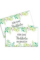 """25 Flaschenetiketten GRÜNE Hochzeit """"Für das Kribbeln im Bauch"""" Aufkleber für Sektflaschen"""