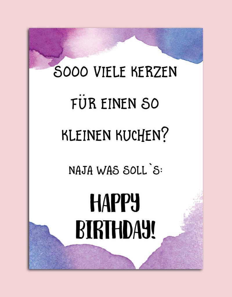 "Geburtstagskarte ""Sooo viele Kerzen"""