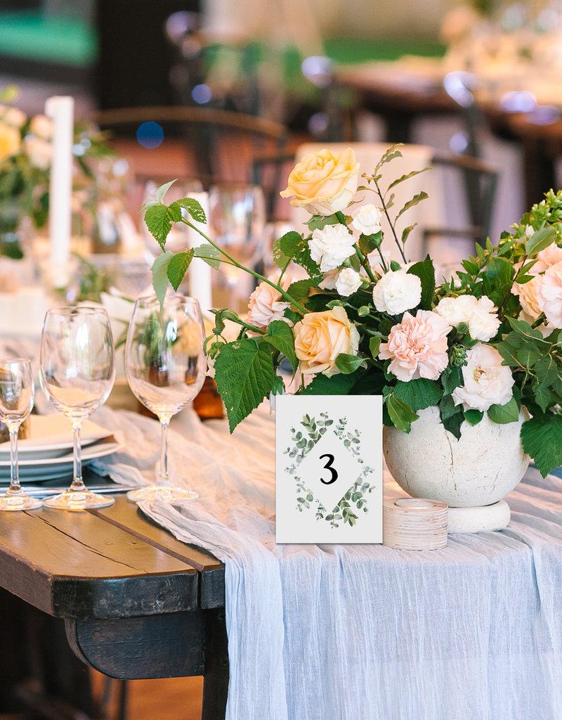 Tischnummern Hochzeit Eucalyptus 1-10 vintage Hochzeit DIN A6