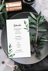 """10 Menükarten zum Bedrucken """"Eucalyptus Hochzeit"""" Getränkekarte Hochzeit"""