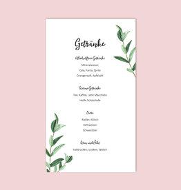 "10 Menükarten zum Bedrucken ""Eucalyptus Hochzeit"""