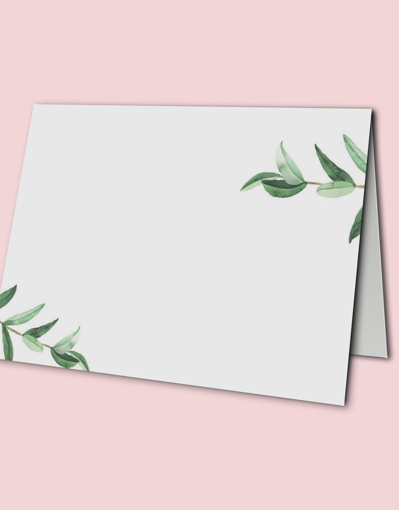 Platzkarten Hochzeit 50 Stück  Tischkärtchen TischkartenEucalyptus Hochzeit