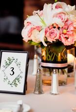Tischdeko Hochzeit Set EUCALYPTUS (10 Tischnummern 50 Platzkarten 20 Menükarten) Hochzeit Tischdekoration Platzkärtchen