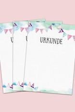 15 Urkunden für Kinder, Blanko Urkunden DIN A4