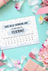 """Save the Date Karten Geburtstag """"Sag alle Termine ab!"""" Save the date Karten deutsch Einladung Geburtstag DIN A6"""