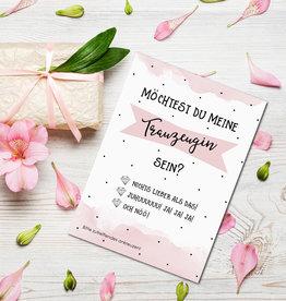 Postkarte Möchtest Du meine Trauzeugin sein? inkl. Umschlag zum Ankreuzen Karte Trauzeugin Geschenk Trauzeugin