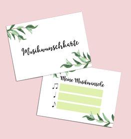 "50 Musikwunschkarten ""Eucalyptus"""