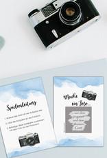 """50 Fotoboxaufgaben zum Rubbeln """"Aquarell blau!"""" Rubbelkarten"""
