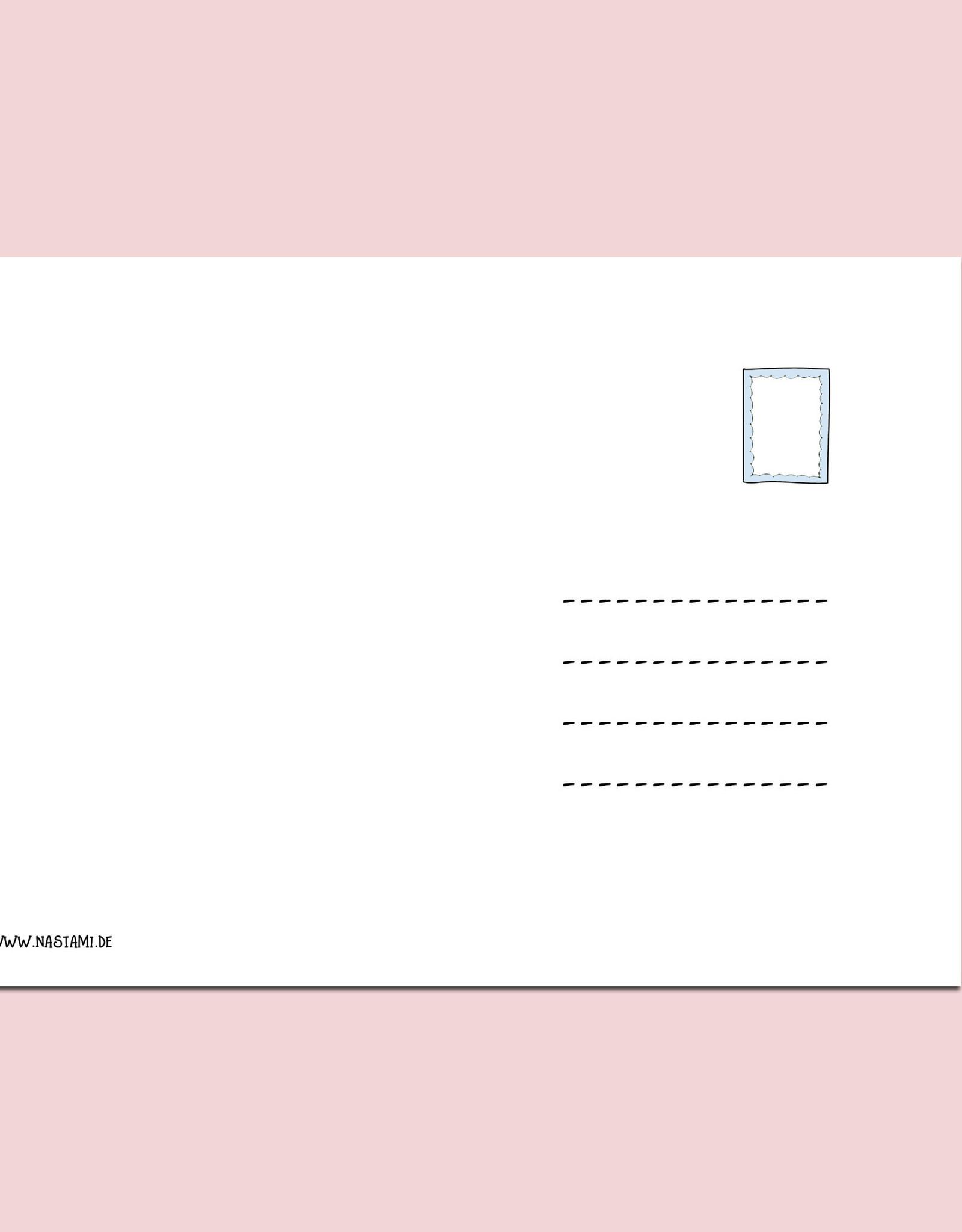 Postkarte Baby 1+1 Glückwunschkarte Geburt Grußkarte Baby