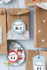 24 Adventskalender Zahlen rechnen Grundschule Sticker Aufkleber Adventskalender Mathe