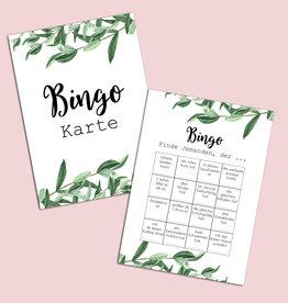 """50 Bingokarten """"Eucalyptus Hochzeit"""", Hochzeitsbingo"""