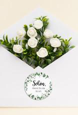 """50 Sticker """"Schön, dass Du da bist!"""" EUCALYPTUS Hochzeit"""