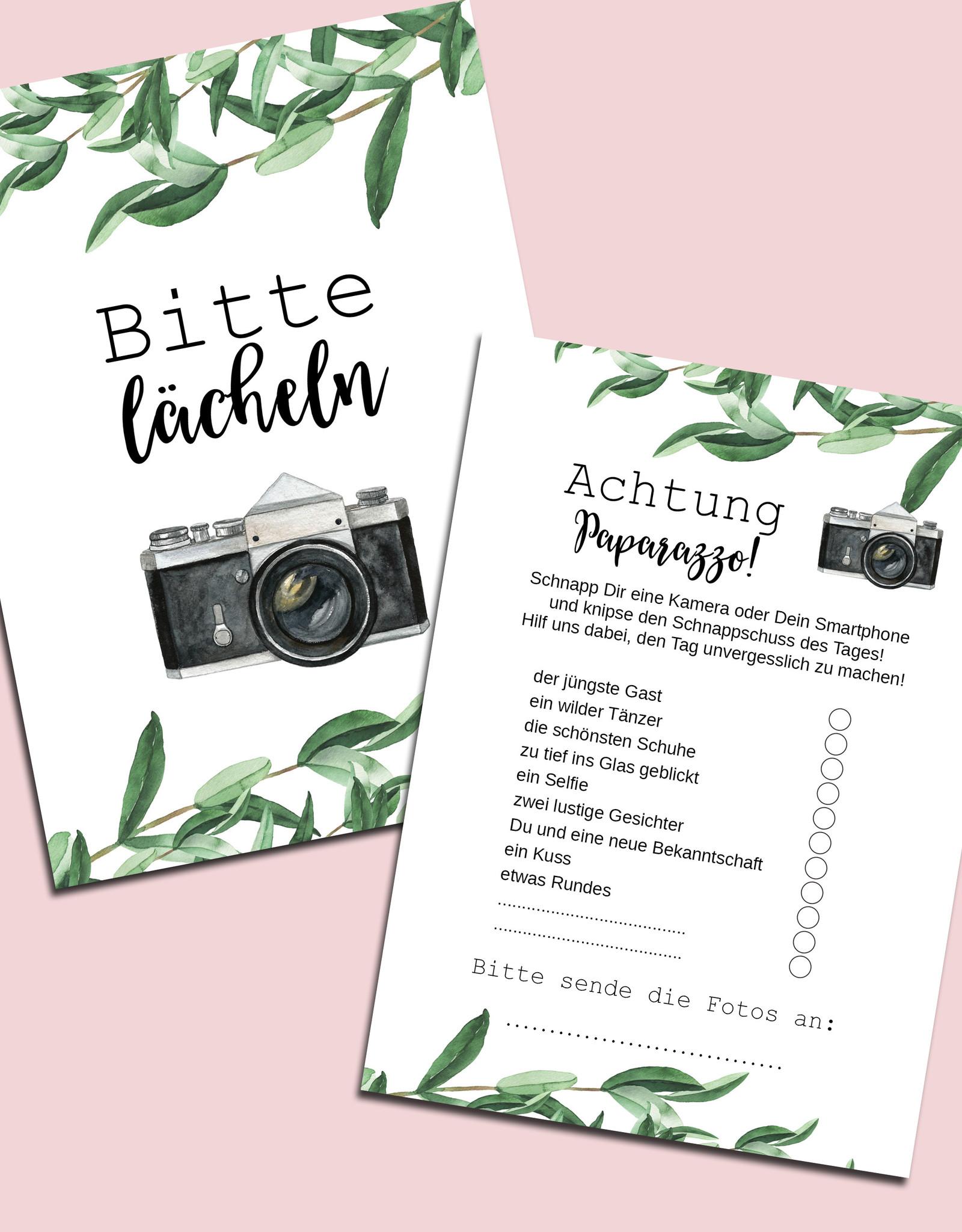 """50 Fotokarten Hochzeit """"Eucalyptus"""""""