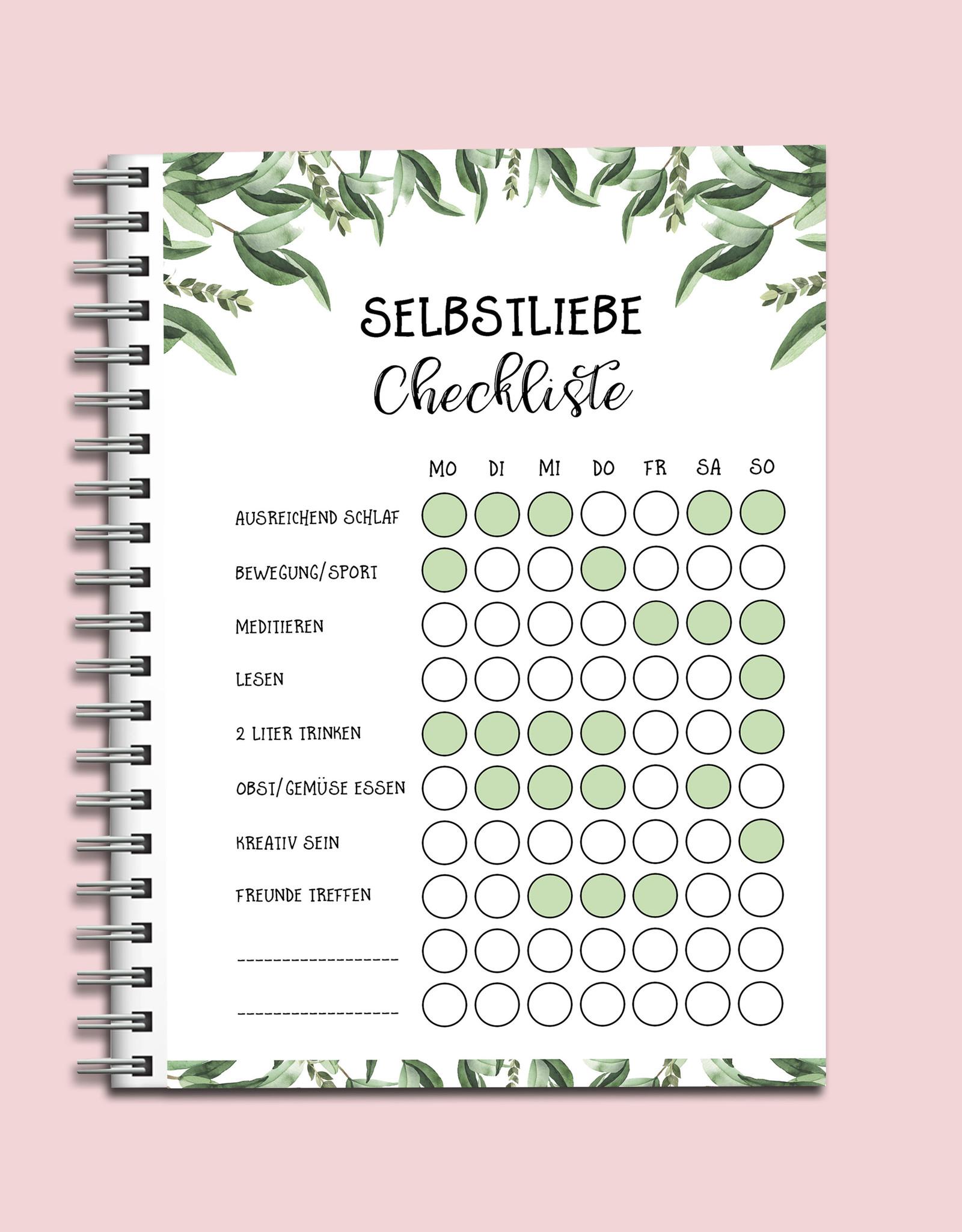 Selfcare Chickliste To Do Block Selbstliebe Selbstfürsorge Tagesplaner Wochenplaner