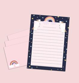 Briefpapier Set Einhorn DIN A5 Briefpapier Kinder inkl. Umschläge