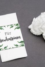 """50 x Banderole """"Für Freudentränen"""" Hochzeitsdeko EUCALYPTUS"""