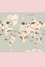 Weltkarte Poster Kinder Kinderweltkarte Lernposter Grundschule Kinderzimmer Poster