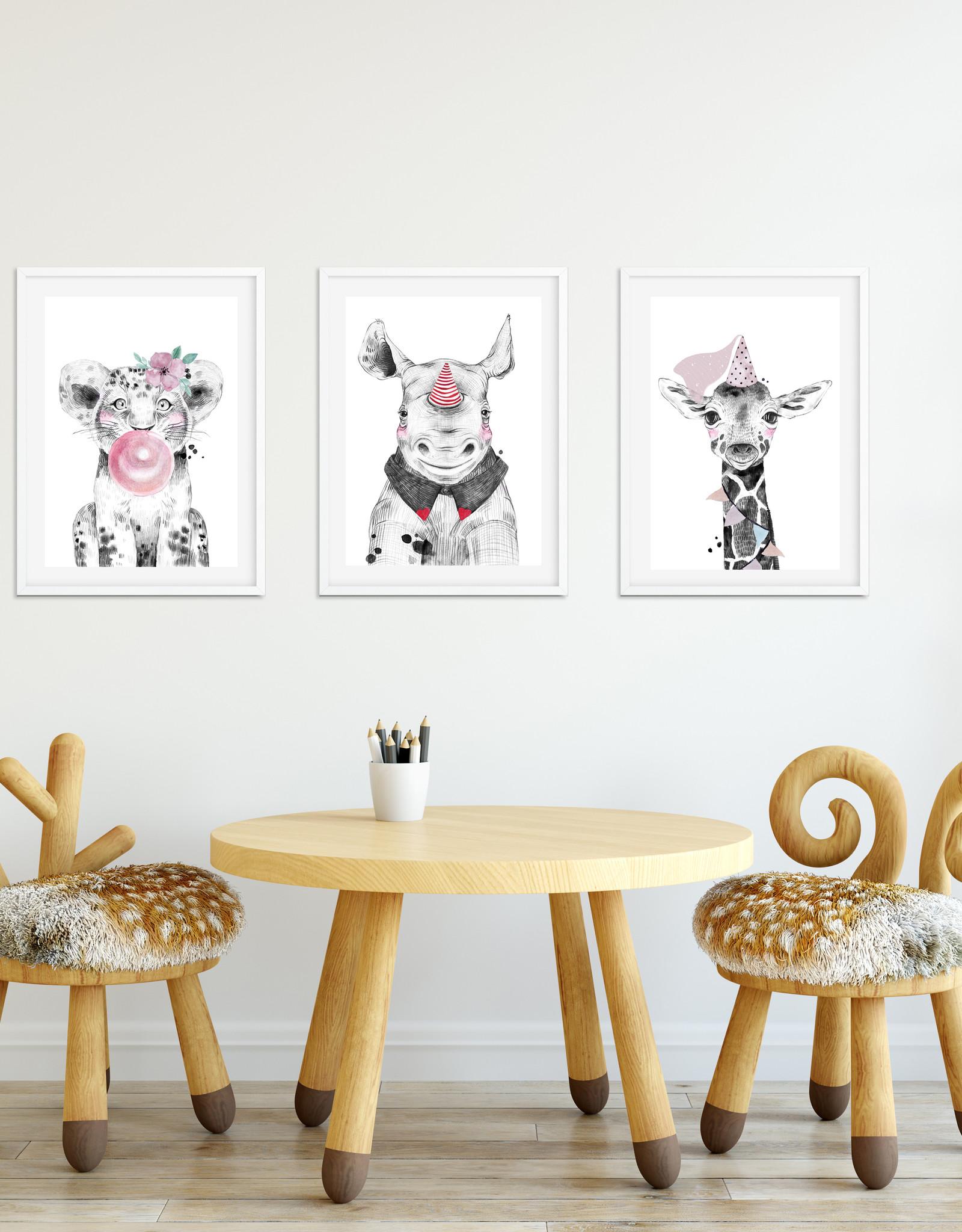 Wandbilder 3er Set Tierbabys Poster