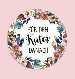 """50 Sticker """"Kür den Kater danach"""" BOHO Hochzeit Gastgeschenk Aufkleber Hangover Kit"""