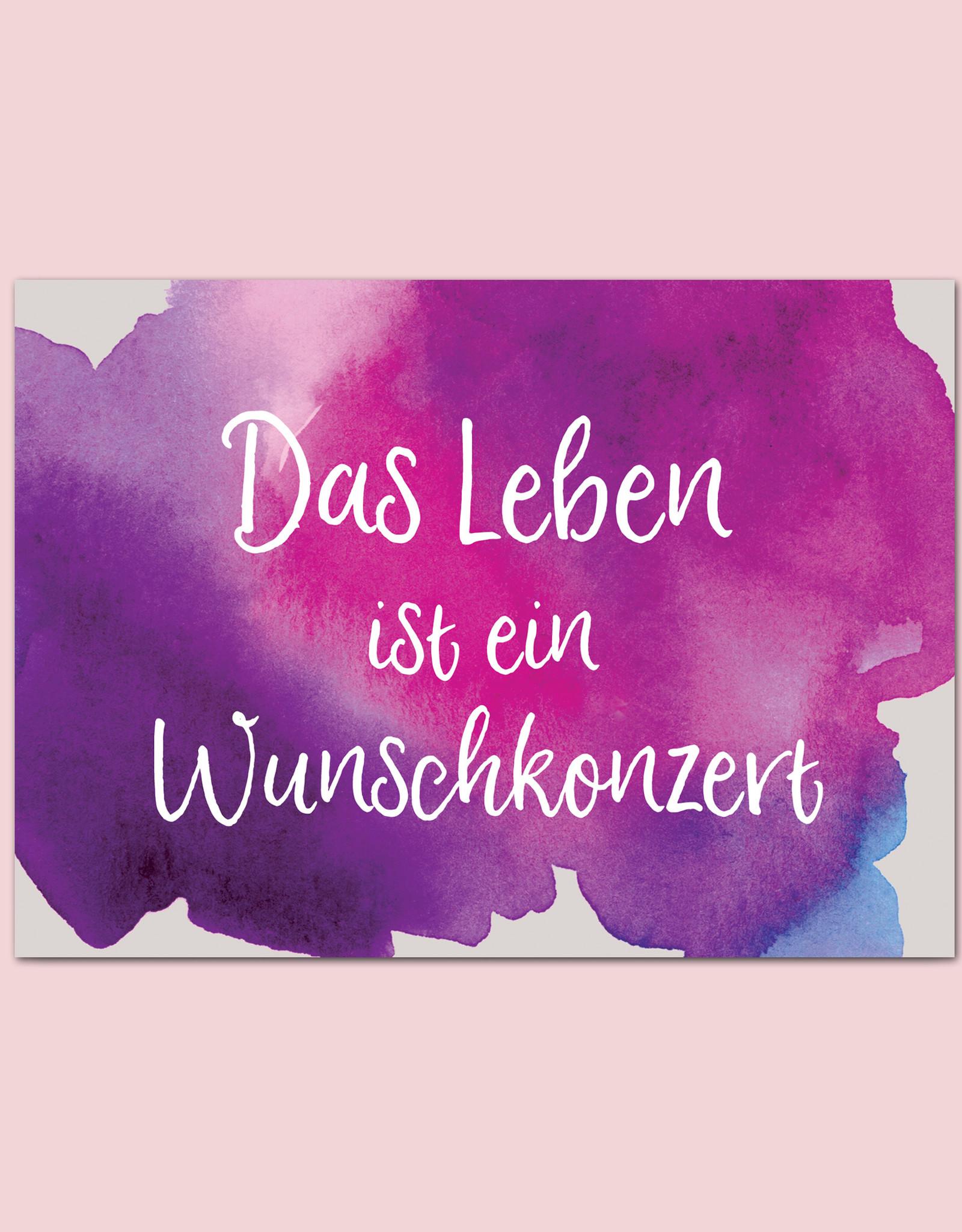 """Postkarte Spruch """"Wunschkonzert"""" Motivationskarte"""