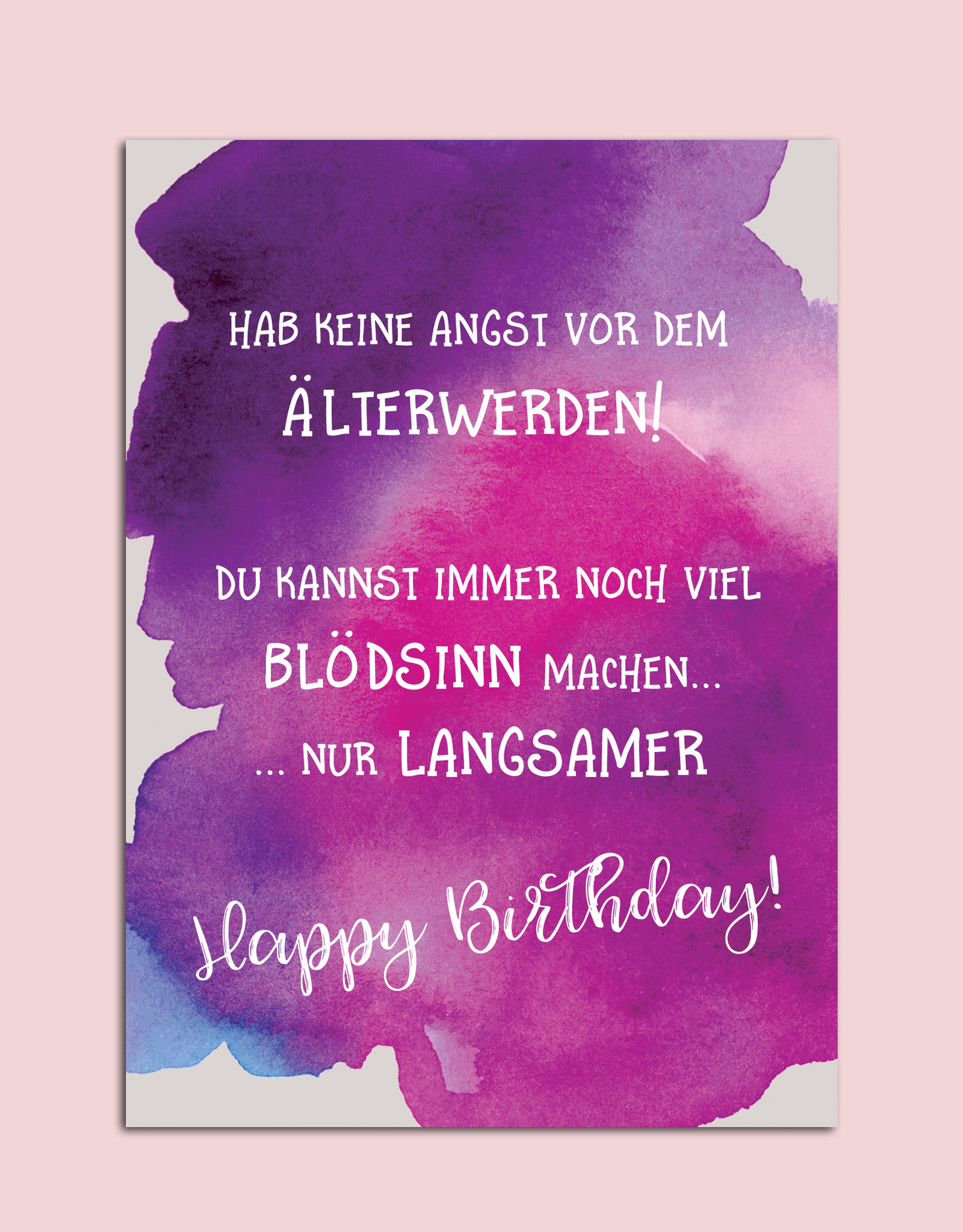"""Postkarte Geburtstag """"Älterwerden"""" Glückwunschkarte Geburtstag"""