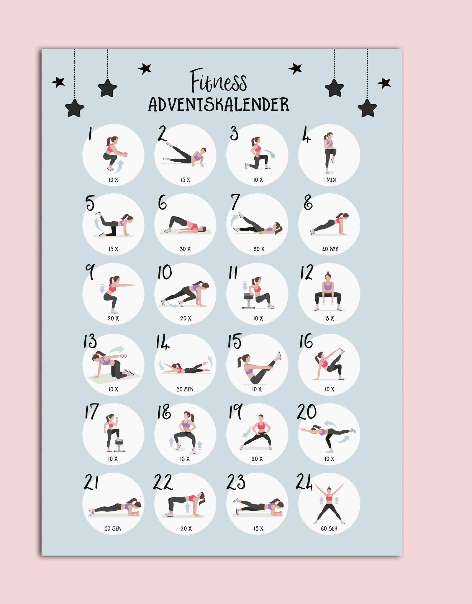 Fitness Adventskalender DIN A3
