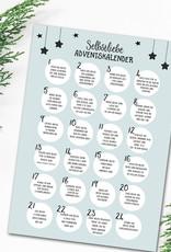 Selbstliebe Adventskalender DIN A3 Weihnachtskalender Achtsamkeit mit 24 Übungen
