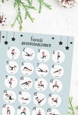 Fitness Adventskalender zum Rubbeln DIN A3