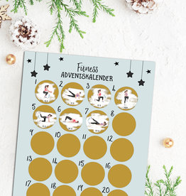 Fitness Adventskalender zum Rubbeln DIN A3
