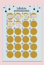 Selbstliebe Adventskalender zum Rubbeln DIN A3 Weihnachtskalender Achtsamkeit mit 24 Übungen