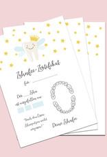 Zahnfee Zertifikat 20 Stück, Zahnfee Geschenk, Zahnfee Brief, Urkunde Zahnfee