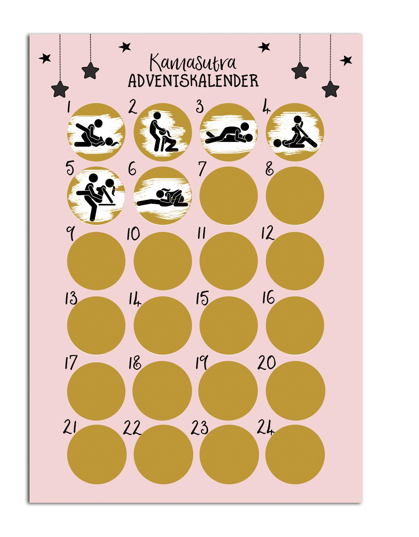 Adventskalender zum Rubbeln KAMASUTRA Adventskalender A3 Weihnachtskalender
