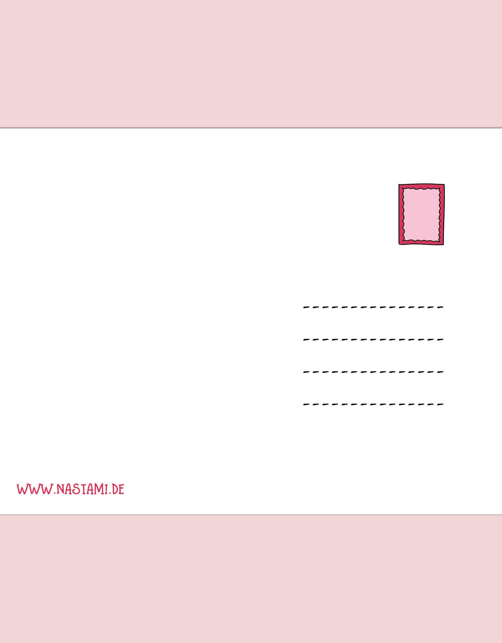 """Postkarte """"Du gehst mir nicht mehr aus dem Kopf"""" Postkarte Liebe, Postkarte Sprüche, Postkarte Geburtstag, Jahrestag"""