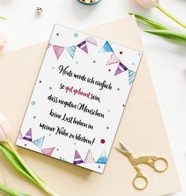 """Postkarte Spruch """"Heute werde ich gut gelaunt sein"""""""