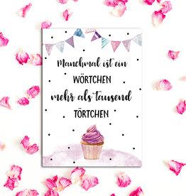 """Postkarte Geburtstag """"Törtchen"""""""