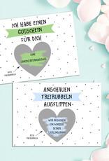 3 x Rubbelkarten GUTSCHEINE bunt inkl. 3 Umschläge, Gutschein Karte Gutschein Vorlage Rubbelkarten Rubbellose Gutschein Verpackung