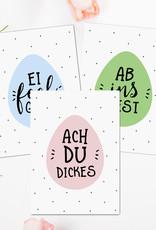 Osterkarten 3er Set Sprüche Karten Ostern Grußkarten Osterkarten Set