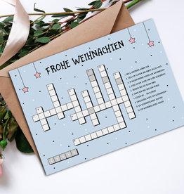 Weihnachtskarte KREUZWORTRÄTSEL Postkarte