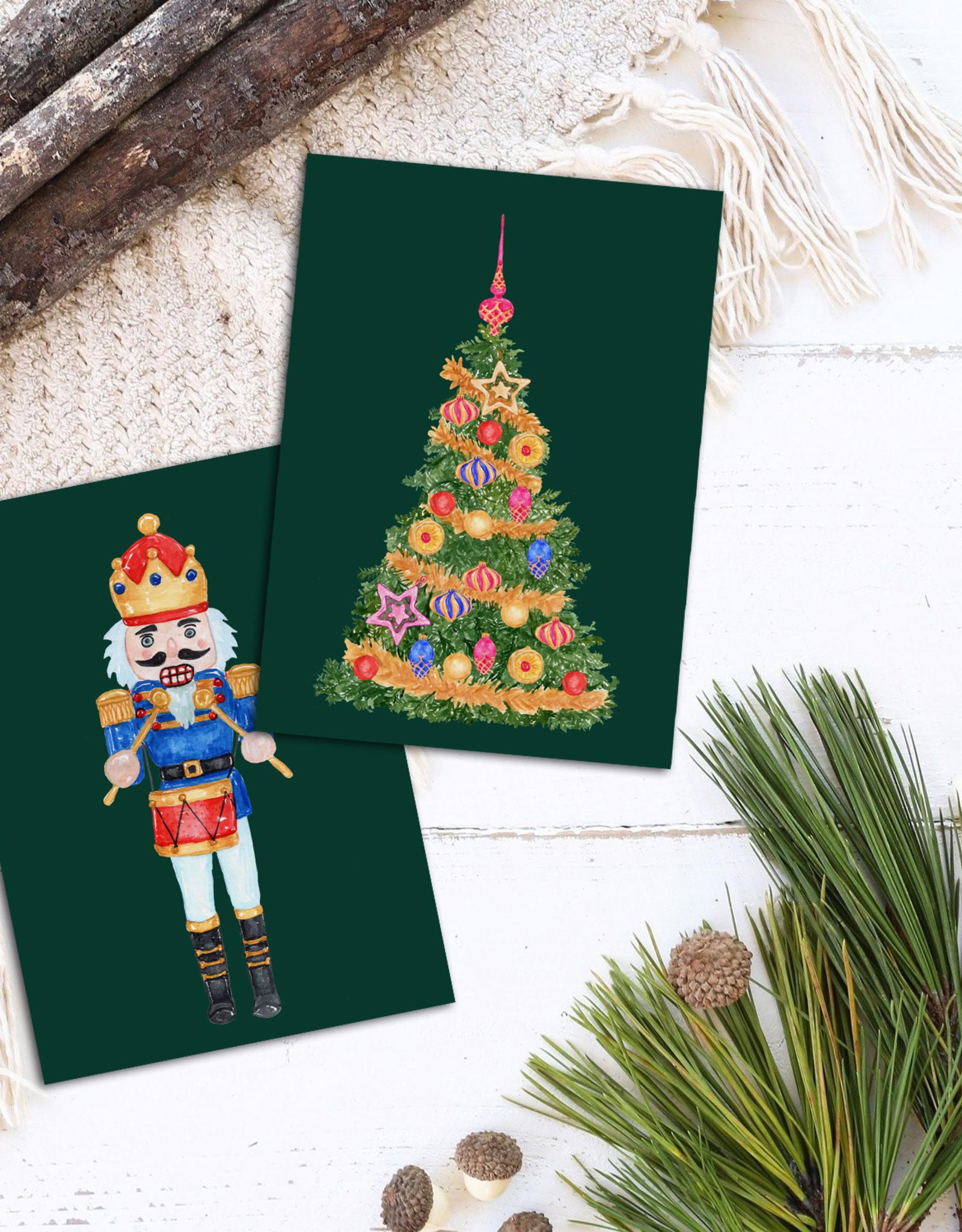 Weihnachtskarten vintage Set 3-teilig NUSSKNACKER, Postkarten Set Postkarte Weihnachten Weihnachhtskarten Weihnachtsgeschenke Grußkarten
