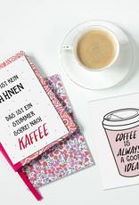 Postkarten KAFFEE Set 3-teilig, Kaffee Karten Sprüche Postkarten Grußkarten Kaffee