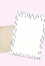 Briefpapier Set DIN A5 schwarz-weiß inkl. 10 Umschläge Kraftpapier