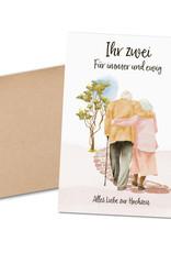"""Glückwunschkarte Hochzeit """"Spaziergang"""" Karte Hochzeit Grußkarte Hochzeit Geschenk"""