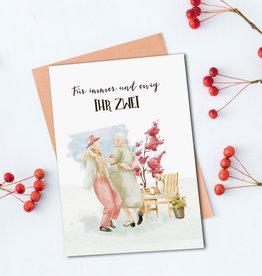 """Glückwunschkarte Hochzeit """"tanzendes Ehepaar"""""""