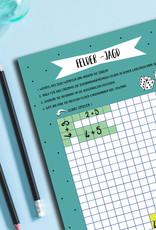 Mathespiel Block DIN A5 Mathe Spiel Grundschule 50 Blatt